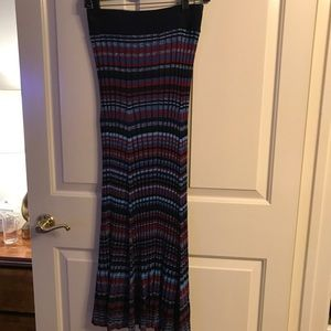 c878a9cf6 Maje Skirts | Pleated Fitted Maxi Skirt With Lurex | Poshmark